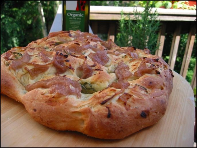 Rosemary & Caramelized Onion Focaccia