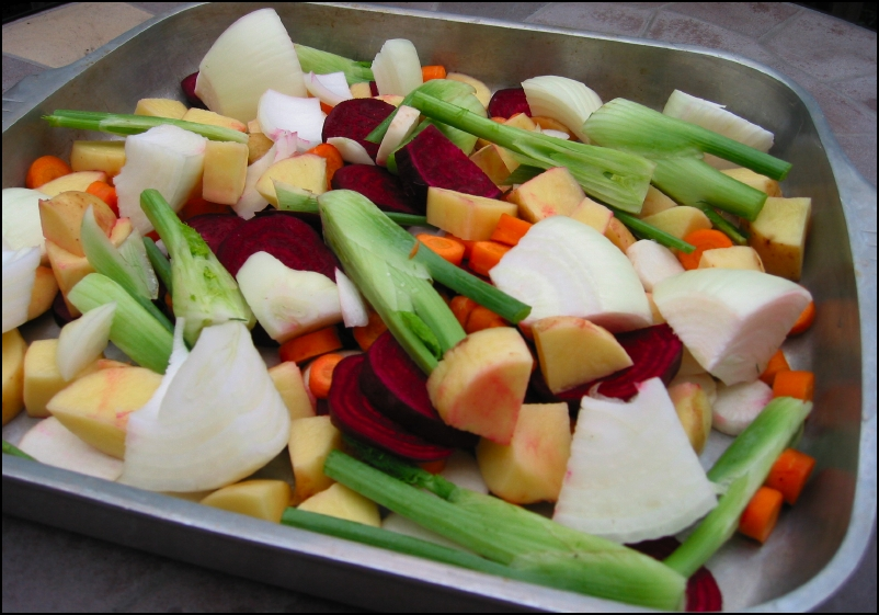 Oven-Roasted Veggies (before cooking)